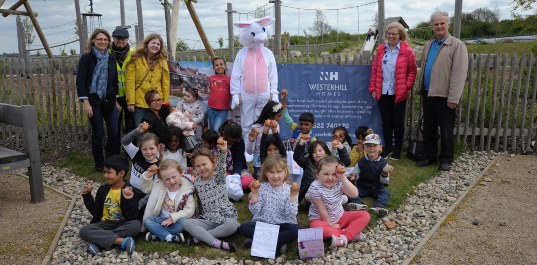 Easter Egg Hunt At Castle Hill, Ebbsfleet