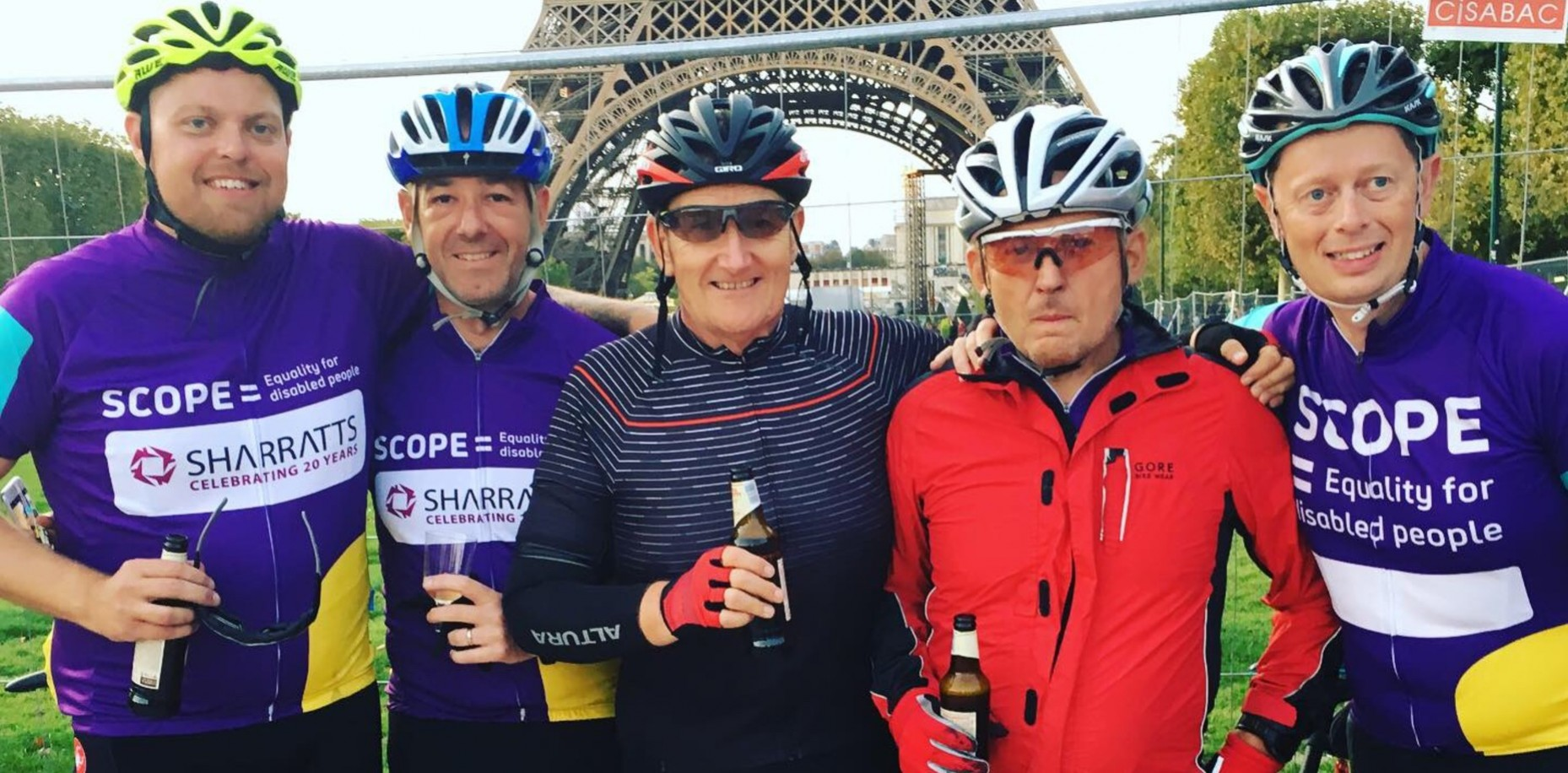 Charity Cycle ride – 300 miles in the wind and rain through Kent to Paris in aid of SCOPE