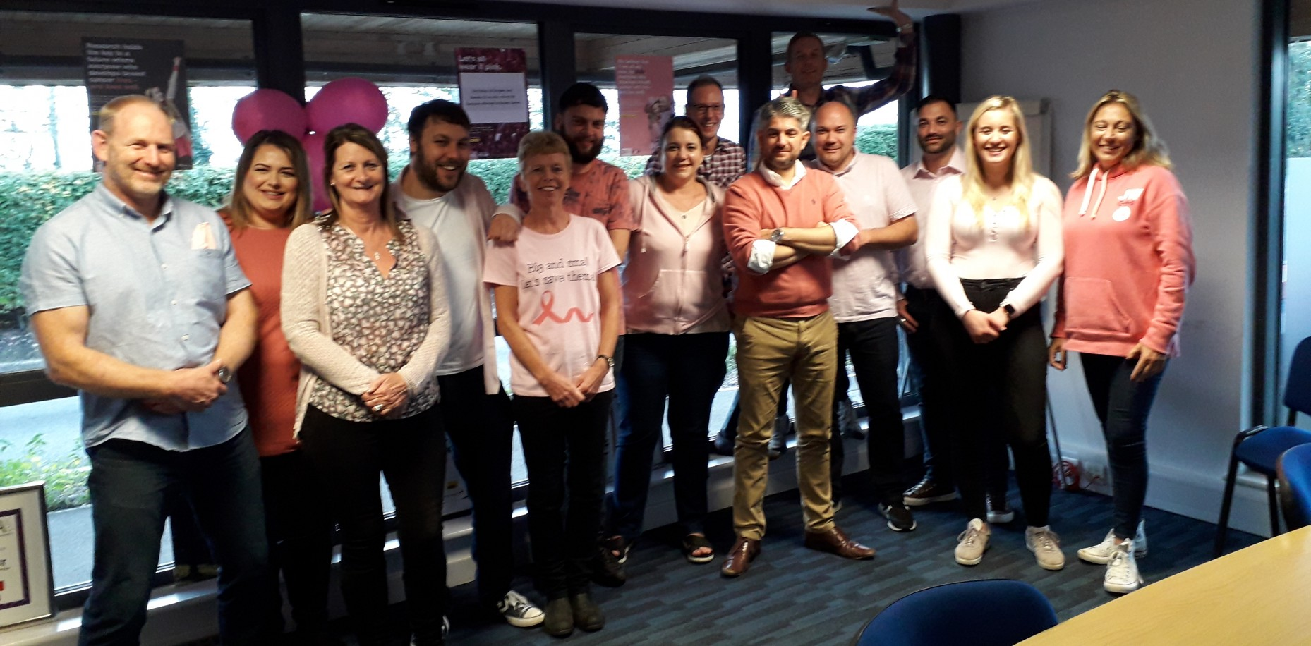 Chartway Group 'Wear it Pink' in aid of Breast Cancer Now.