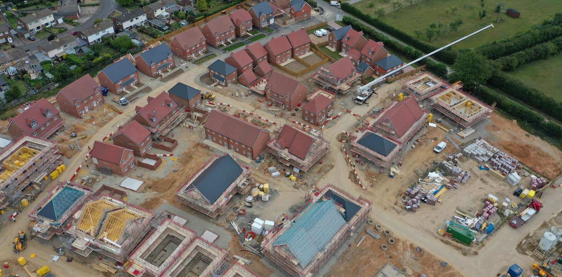 Construction is progressing at Forstal Lane, Coxheath