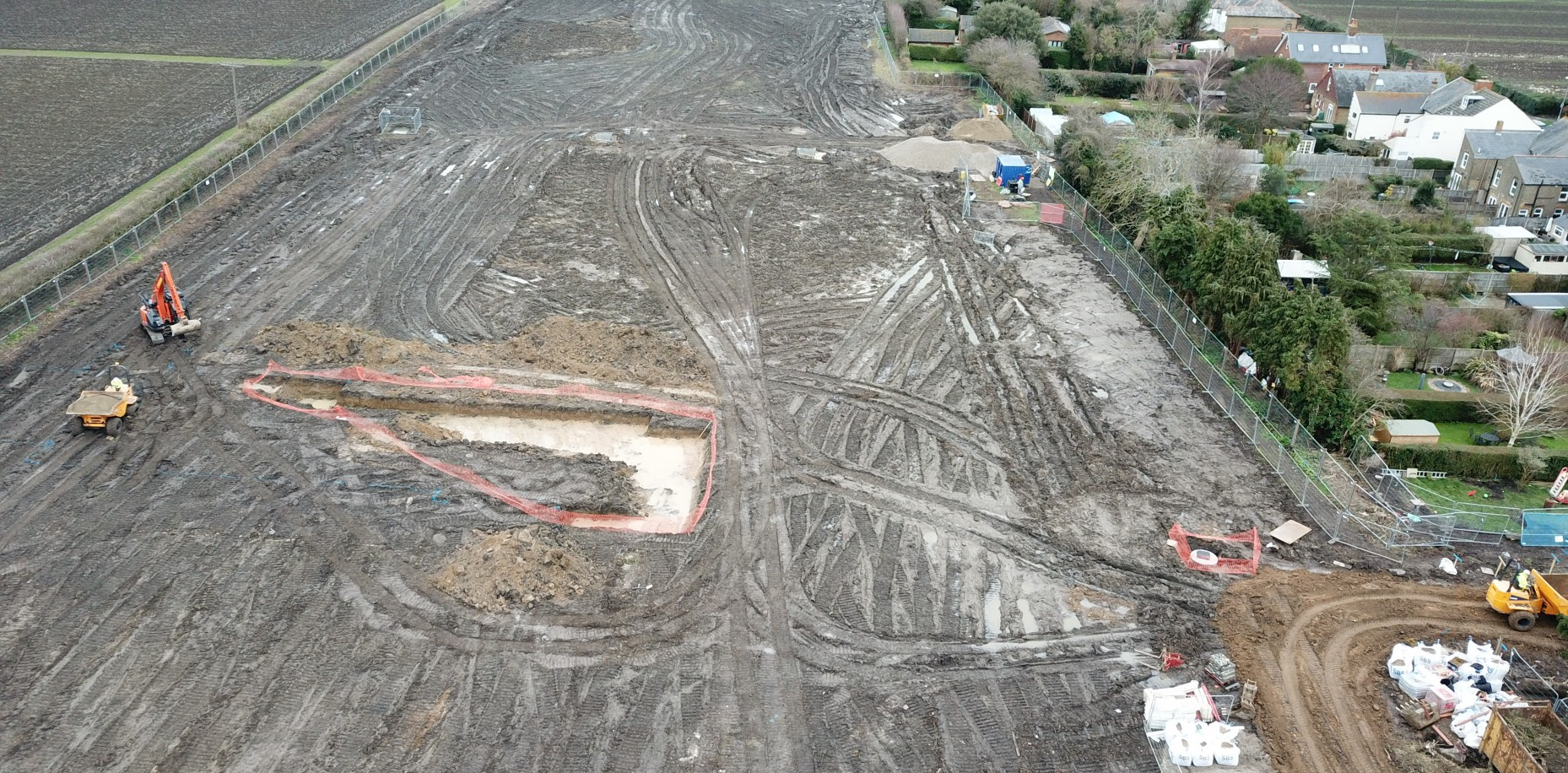 Construction is underway on site at Dover Road, Sandwich for our new homes arm, Westerhill Homes.