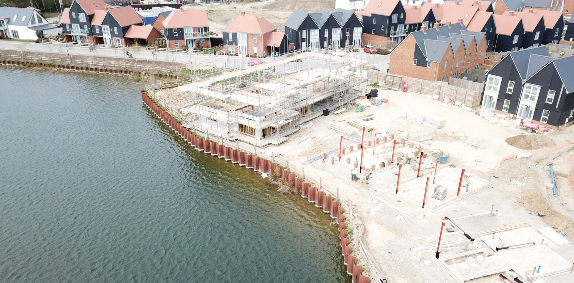 Rising to the challenges of building three story homes beside the lake at Conningbrook lakes