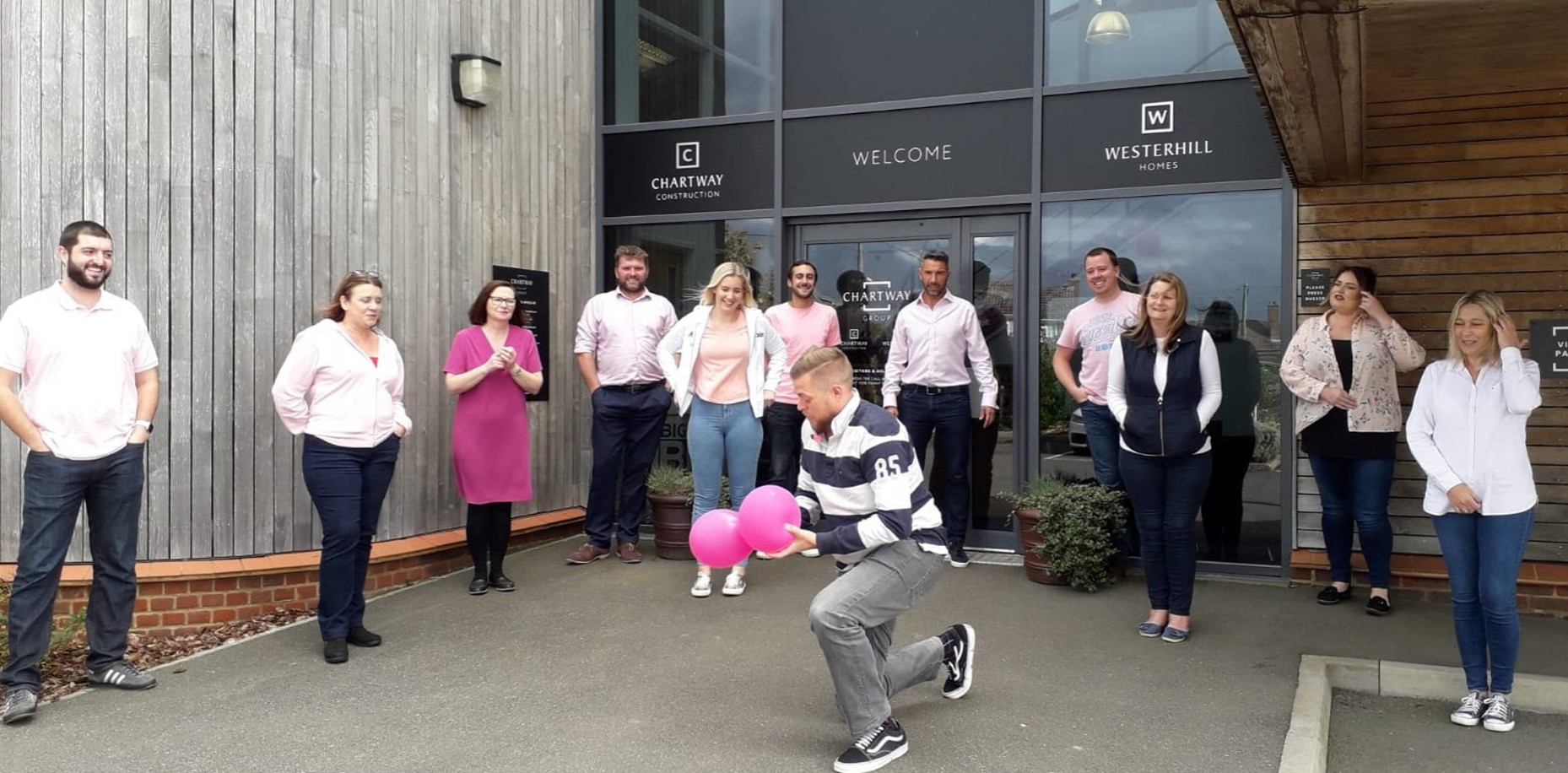 We 'Wore it Pink' last week, in aid of Breast Cancer Now.
